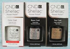 CND Shellac UV LED Gel Power Polish 3-pc Set STUDIO WHITE BASE TOP COAT Auth NIB