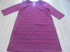 Boden New Easy Notch Tunic Dress  red//navy size 12 reg bnwot