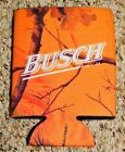 BUSCH BEER 12oz Insulated CAN Koozie NOS Simply The Best!!! ORANGE FALL THEME