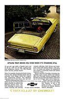 1964 CHEVROLET CHEVELLE Malibu Super-Sport Convertible Photo AD~Goldwood Yellow