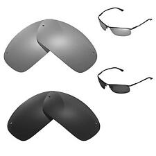 New Walleva Polarized Black + Titanium Replacement For Ray-Ban RB3183 63mm