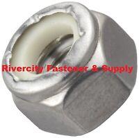 - Acier inoxydable M14 Nyloc écrou//Nylon Insert Nut 14 mm fine avec 1.5 pitch