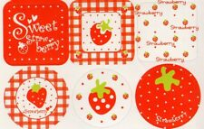 Strawberry Envelope Seal Stickers (5 sheets - 60 stickers total)