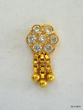 stud nosepin rajasthan india 18k traditional design gold nose