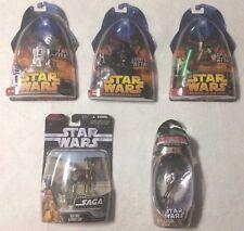 LOT OF 5 STAR WARS FIGURE (NIB) R2-D2 #48 YODA #26 Darth Vader #11 + Die Cast ++