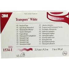 TRANSPORE White 9,1mx2,5cm Rollenpflast.1534-1 12 St