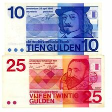 Netherlands . P-91b, 92a . 10,25 Gulden . 1968 . *Vf+*