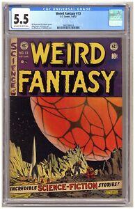Weird Fantasy 13 (CGC 5.5) Wally Wood; Jack Kamen; Al Feldstein; EC; 1952 B992