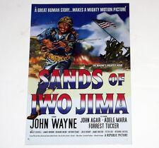 "JOHN WAYNE The DUKE Sands of Iwo Jima HOLLYWOOD MOVIE TIN POSTER 10"" x 15"" New"