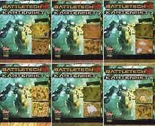 BUNDLE-6 x BATTLETECH KARTENSET-#1-#6-Tabletop Gaming Map´s-Miniatures-neu-OVP