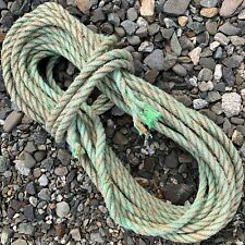 55' Green Weathered MAINE Boat Lobster Trap Buoy ROPE Nautical Decor Recycle