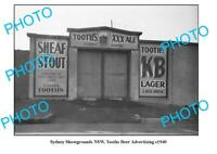 OLD 8x6 PHOTO SYDNEY SHOWGROUNDS GATE TOOHEYS BEER ADVERTISING c1940