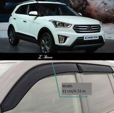 Side Window Visors Sun Rain Guard Vent Deflectors for Hyundai Creta 5d 2016-2018