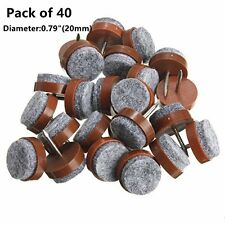Felt Pad for Wooden Furniture Chair Tables Leg Nail on Anti Sliding 40 Pieces