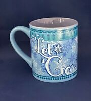 "Disney FROZEN Elsa ""Let It Go"" Blue & Purple Ceramic Coffee Tea Mug 14 Oz"