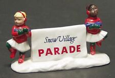 """* Dept 56 Snow Village 1991 Lot """"Come Join The Parade"""" + """"Snowball Fort"""" - Nib *"""
