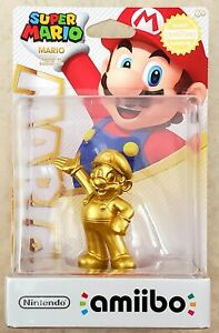 Nintendo Gold Edition Super Mario Amiibo Authentic Official NEW 1st EDITION
