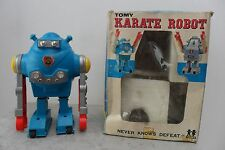 "Rare Karate Robot ""3"" Battery Operated by Tomy Made in Japan 1960's Box"
