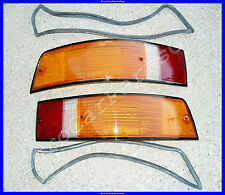 Porsche 911 912 930 Euro Amber w/Black Trim Tail Light Lens w/Seals Left & Right