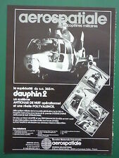 2/1982 PUB AEROSPATIALE HELICOPTERE SA 365 M DAUPHIN 2 ALAT ORIGINAL FRENCH AD