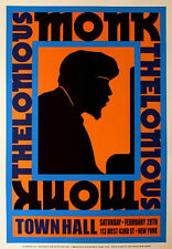 Thelonious Monk Town Hall Concert Flyer Jazz Art Poster Print 17X24 (43X61cm)