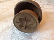 Antique Butter Mold JUST WONDERFUL lathe turned