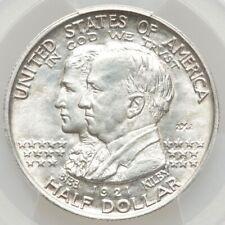 1921 50C Alabama Centennial half dollar 2x2 MS62 PCGS BRIGHT GORGEOUS WHITE