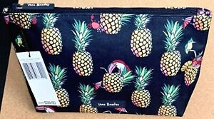 "NWT VERA BRADLEY ""LIGHTEN UP"" LARGE COSMETIC TRAVEL ZIP CASE BAG IN TOUCAN PARTY"