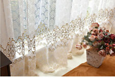 Floral Modern Sheer Tulle Curtains Living Room Bedroom Kitchen Window Drapes