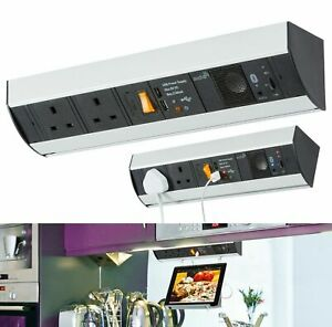 Knightsbridge SK007 Under Cabinet 2G Power Station with USB Charging & Bluetooth