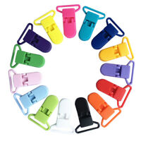 10Pcs Baby Plastic Pacifier Clip Holder Soother Mam Infant Dummy Clips R1BO