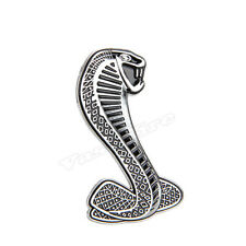 Silver For Ford Mustang Shelby Cobra 3D Snake Emblem Badge Sticker Decal Carven