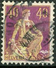"SWITZERLAND - SVIZZERA - 1908 - Allegoria dell'""Helvetia"" - 40 cent. violetto"