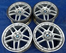 "BMW E36 46 M3 OEM Cromodora Style 71 Staggered 18"" Polished 2-Piece Wheels Rims"