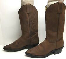 VTG WOMENS ACME COWBOY BROWN BOOTS SIZE 8.5 M