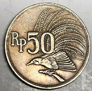 # C6352     INDONESIA    COIN,     50  RUPIAH   1971