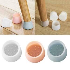 4pcs/set Silicon Furniture Leg Protection Cover Table Floor Feet Pad E5Q5