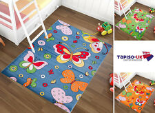 Kids Rug Butterfly PLAYROOM Children's Bedroom DIFFERENT SIZES COLOURS CARPETS