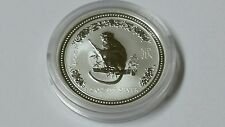 Australia 50 Cents Year of the Monkey Lunar Series I 1/2 Oz Silver coin 2004