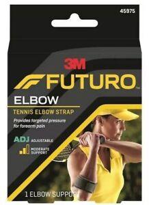 FUTURO Sport Adjustable Tennis Elbow Strap Support 45975 Forearm Pain Badminton