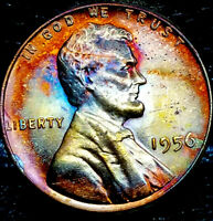 "1956 P Lincoln Wheat Penny Cent- ""Beautiful Toning"" SUPERB GEM HIGH GRADE #07"