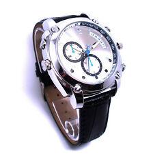16GB Full HD Spion Kamera Armbanduhr Leder Uhr 1080P Video 12MP Spy Cam Watch W8