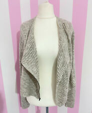 HOLLISTER grey wrap over asymmetrical knitted cardigan ~ XS / S