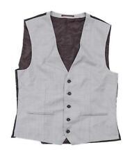 Next Mens Size L Wool Blend Grey Waistcoat