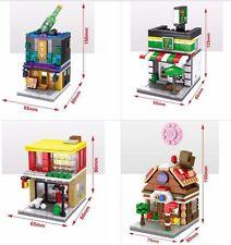 Lot 4sets CITY BUILDING MINI BLOCK SEMBO FOOD SHOP 7-11 SOFT DRINK Sweet candy
