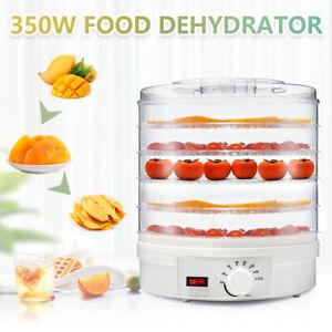350W Food Dehydrator 5 Tray Shelf Dryer Machine Fruit Preserver Beef Jerky Dryer