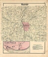 Holmes County Ohio 1875 Atlas plat maps old Genealogy history Land P60