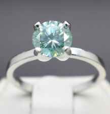 1.38cts 7.29mm Fancy Light Blue Diamond Size 7 Ring VS-2 & $890 Retail Value