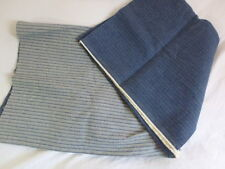 Vintage Striped Denim Upholstery Fabric Two sided different patterns 60x62
