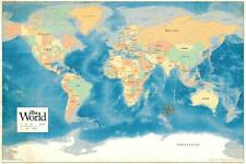 ProMaps Official 2017 World Map Classroom Reference Poster 36x54 inch